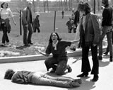 Jeffrey Miller lies slain at Kent State University May 4, 1970
